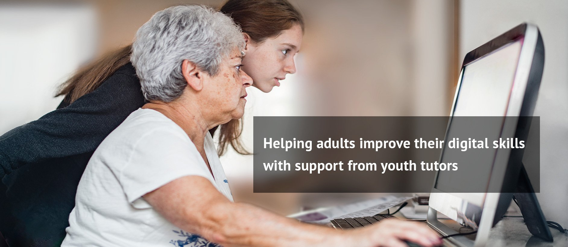 Helping adults improve their digital skills with support form youth tutors